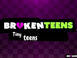 BrokenTeens – Petite Teen Destroyed By Two Monster Cocks