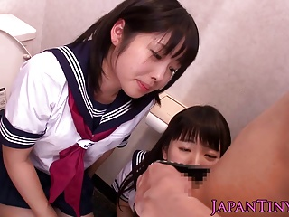 Petite Japanese Schoolgirls Love Threeway | Threesome.top Porn Tube