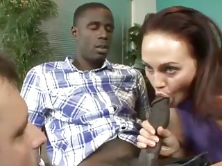 Wife Showing Husband How To Suck Black Cock | Threesome.top Porn Tube