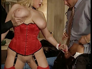 British MILF Kirstyn Halborg DP In Red Stockings | Threesome.top Porn Tube