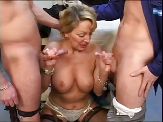 French Mature With 2 Young Cocks | Threesome.top Porn Tube