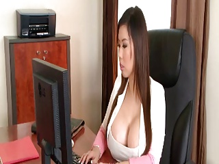 Busty Office Threesome | Threesome.top Porn Tube