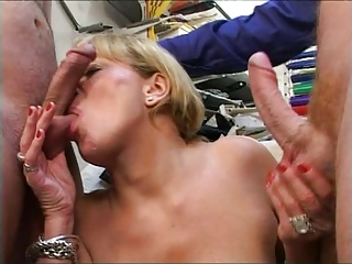 Horny Grandma Decides 1 Cock Isn't Enough | Threesome.top Porn Tube