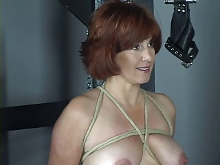Nude Redhead With Nice Tits And Ass Is Whipped In Bdsm Dungeon | Threesome.top Porn Tube