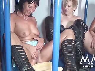 MMV FILMS Amateur German Teen And Mature Caged Lesbians | Threesome.top Porn Tube