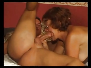 Granny In Glasses Likes Two Cocks | Threesome.top Porn Tube
