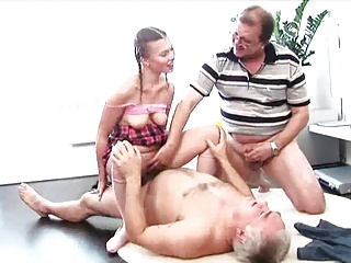 Two Old Men Fuck Young Slut | Threesome.top Porn Tube
