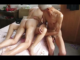 Asian Grandpa Trio With Mature Woman | Threesome.top Porn Tube
