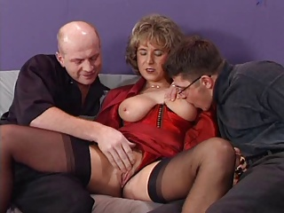 German Houswife Enjoying 2 Hard Cocks | Threesome.top Porn Tube