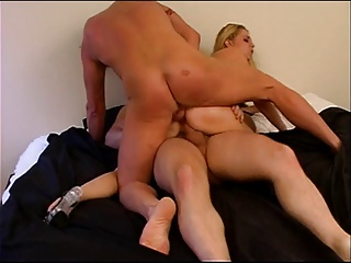 Perfect Blonde Gets Double Penetrated From Two Lucky Big Dicked Guys | Threesome.top Porn Tube