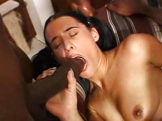 A Brunette And Two Big Black Dicks | Threesome.top Porn Tube