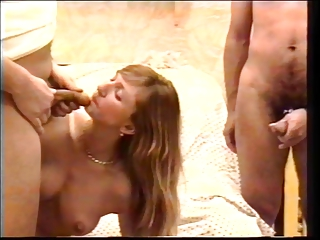 Blonde Slut Sucks And Fucks Hard And Eats Cum After Being Fucked | Threesome.top Porn Tube