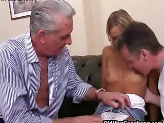 Blonde Loves Taking Two Cocks
