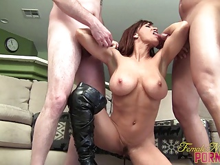 Devon Michaels And Her Muscle Slaves | Threesome.top Porn Tube