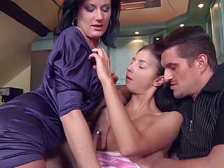 Girl Receives Lesson By Mommy | Threesome.top Porn Tube