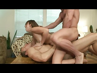 2 Big Dick Dudes Share A  Hottie | Threesome.top Porn Tube