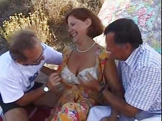 Mature And Two Men   Threesome.top Porn Tube