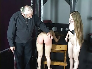 Cute Young Bisexual Bdsm Girls Love Getting Spanked Hard In The Dungeon | Threesome.top Porn Tube