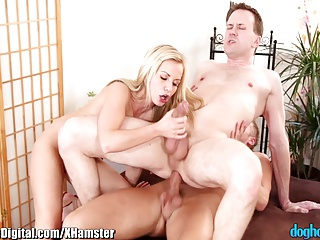 DogHouse Bi -Curous Couple Has First Threesome