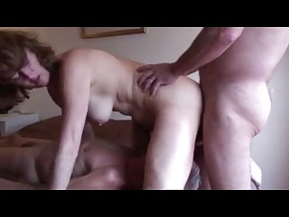 Mature Cuckold Husband Eats Fucker Creampie | Threesome.top Porn Tube
