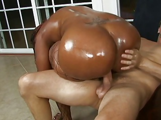 Lucky White Stud Gets His Throbbing Cock Deep-throated By Two Black Whores | Threesome.top Porn Tube