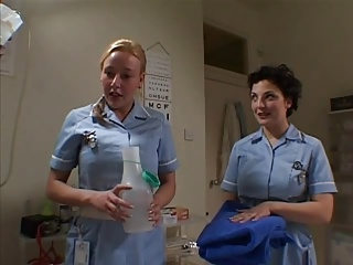 Two British Nurses Soap Up And Screw A Lucky Guy | Threesome.top Porn Tube