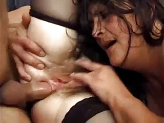 Threesome For Hairy French Mom By TROC | Threesome.top Porn Tube