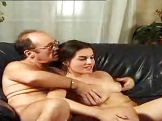Old Couple Playing With  A Sweet Young Girl By TROC   Threesome.top Porn Tube