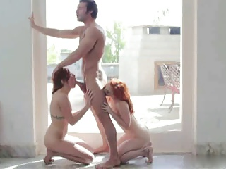 Sex With Two Redheads   Threesome.top Porn Tube