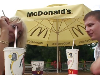 Two Guys Pick-up Czech Woman At McDonalds   Threesome.top Porn Tube