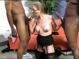 Big Nipple Blonde Mature Fucks 2 Black Cocks!!!!!!! | Threesome.top Porn Tube