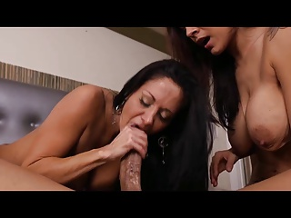 Two Wonderful MILF Fuck Lucky Guy In A Threesome   Threesome.top Porn Tube