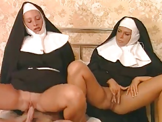 These Two Nuns Are Liking That Hard Cock | Threesome.top Porn Tube