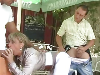 Recently In A Beer Garden | Threesome.top Porn Tube