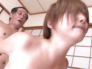 Busty MILF Meguru Kosaka Fucked By Two Guys | Threesome.top Porn Tube