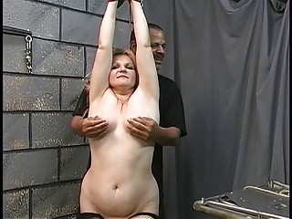 Mature BBW Blonde Gets Tortured In Dungeon By Two Old Men | Threesome.top Porn Tube