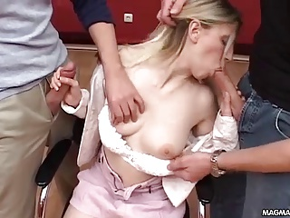 MAGMA FILM German Office Slut Fucked In All Her Holes   Threesome.top Porn Tube