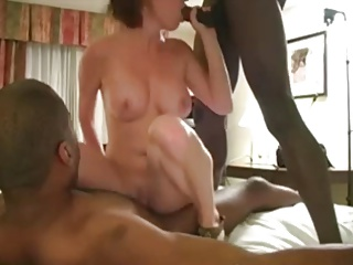 Sexy MILF In Pink With 2 Black Studs   Threesome.top Porn Tube