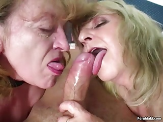 Lucky Guy Fucks Two Amazing Grannies   Threesome.top Porn Tube