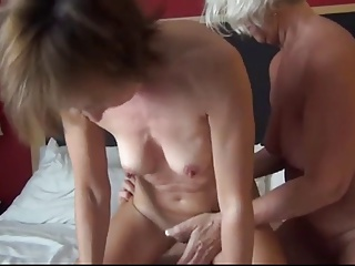 Two Horny Grannies Share One Young Stiff Cock   Threesome.top Porn Tube