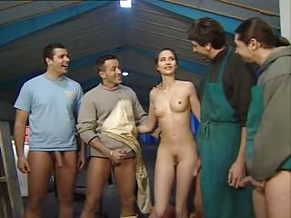 Patricia Diamond – Garage Gangbang | Threesome.top Porn Tube