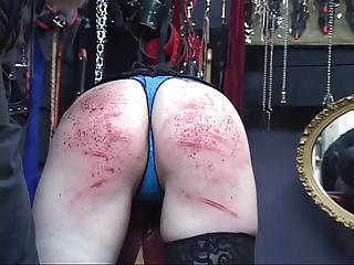 Hot BDSM Goth Chick Gets Ass Spanked With Spiked Paddle | Threesome.top Porn Tube