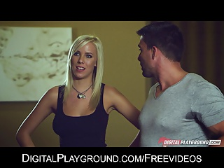 Slutty Cock-hungry Blonde Bibi Jones Gets Double Teamed | Threesome.top Porn Tube