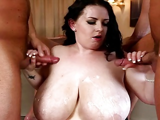 BBW Big Boobs Brunette 3Some | Threesome.top Porn Tube
