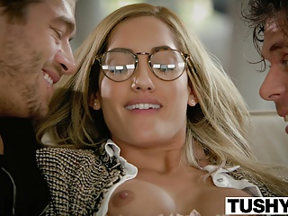 TUSHY Chloe Amour Tries Double Penetration | Threesome.top Porn Tube