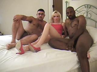 Interracial Three Some 1 | Threesome.top Porn Tube